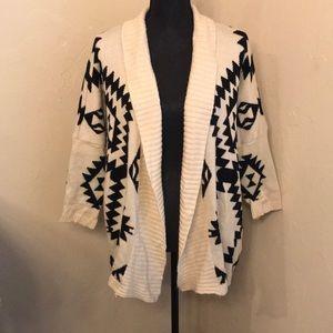 Tribal Sweater Shrug size Large